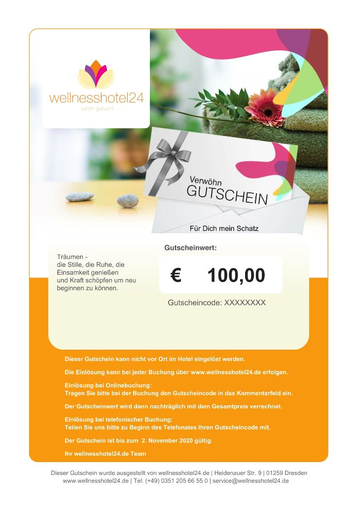 wellnesshotel24 Gutschein Motiv Wellness